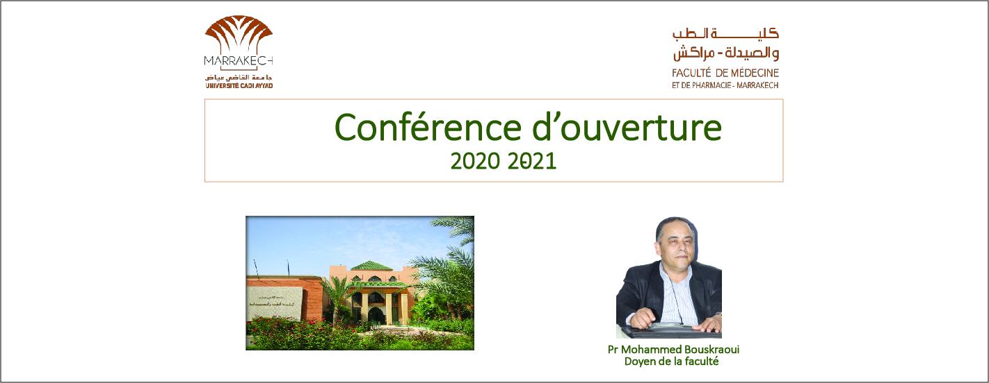 CONFÉRENCE D'OUVERTURE 2020-2021